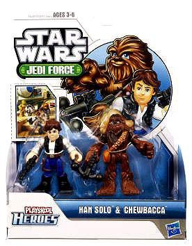 Star Wars 2011 Playskool Jedi Force Mini Figure 2Pack Chewbacca Han Solo