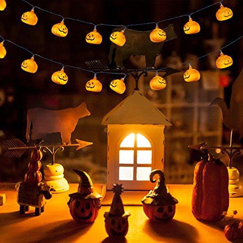 Halloween Pumpkin String Light, Battery Operated LED Fairy String Lights 3D Pumpkin 30 LED Lights Halloween Christmas Decoration Lights(3M/9.8FT/Warm (Why Pumpkin For Halloween)