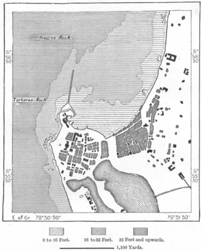 Amazoncom SRI LANKA Colombo sketch map c1885 old map