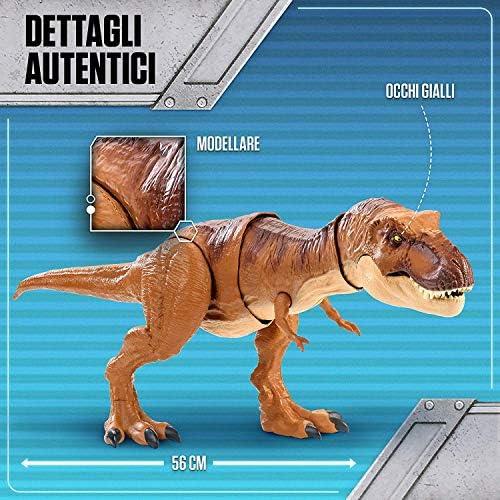 Jurassic World - T-Rex Morso Letale Dinosauro con Suoni Protagonista del Film, FMY70