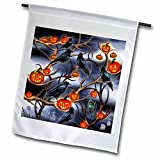 Dream Essence Designs-Holidays Halloween - Mysterious Crows and Jack-o-Lanterns in tree branches on Halloween - 18 x 27 inch Garden Flag (fl_244059_2)