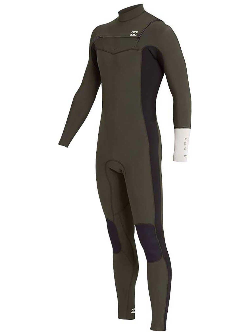 BILLABONG 2018 19 Furnace Revolution 5 4mm Chest Zip Wetsuit Dark Olive L45M06