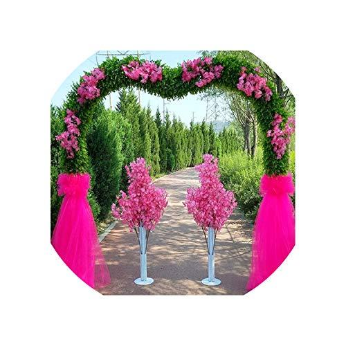 250250CM Artificial Wedding Flower Door Cherry Blossom Door/Happy Happiness Door/Arch Shelf Cherry Blossom Decoration 1Set,C