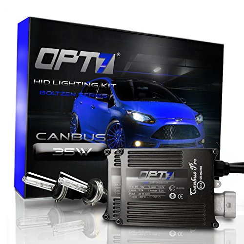 OPT7 Boltzen AC CANbus H11 (H8, H9) High Beam HID Kit - 5x Brighter - 6x Longer Life - All Colors and Sizes - Simple Install - 2 Yr Warranty [5000K Pure White] Xenon Light