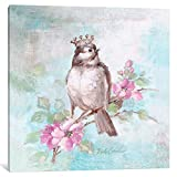 iCanvasART DEB10-1PC6-26x26 iCanvas French Crown & Feathers II Gallery Wrapped Canvas Art Print by Debi Coules, 26'' X 1.5'' X 26''