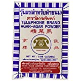 Telephone Brand Agar- Agar Powder - Product of Thailand 5x 0.88 Oz.
