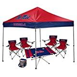 NCAA Hall of Fame Tailgate Bundle - University of Mississippi (1 9x9 Canopy, 4 Kickoff Chairs, 1 16 Can Cooler, 1 Endzone Table)