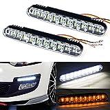 neon daylight running lights - Fullkang 2x 30 LED Car Daytime Running Light DRL Daylight Lamp with Turn Lights