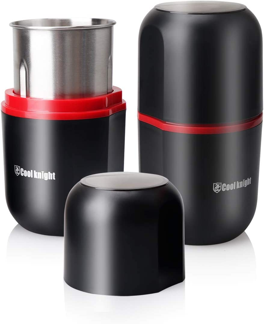 COOL KNIGHT Herb Grinder [large capacity/fast/Electric ]-Spice Herb Grinder with Pollen Catcher/- 7.5
