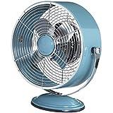 DecoBREEZE Retro Fan Air Circulator Table Fan with Full Pivot Fan Head, Blue