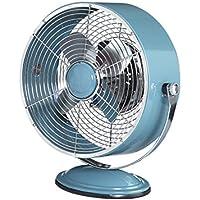 DecoBREEZE Retro Fan Air Circulator Table Fan with Full Pivot Fan Head, 9 In, Blue