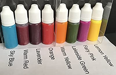 Bright Liquid Color Concentrates Sampler Designed for Soap and Toiletry Cosmetic Crafters from TwinkleStar