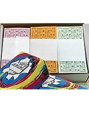 rifasybingos.com 3 Series de 3 Colores Cartones de Bingo troquelados (2700 cartones)