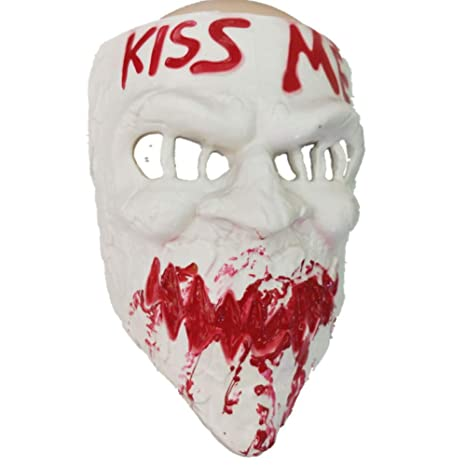 Halloween Masquerade Skull Purge Kissme Skeleton Costume Cosplay Party Mask