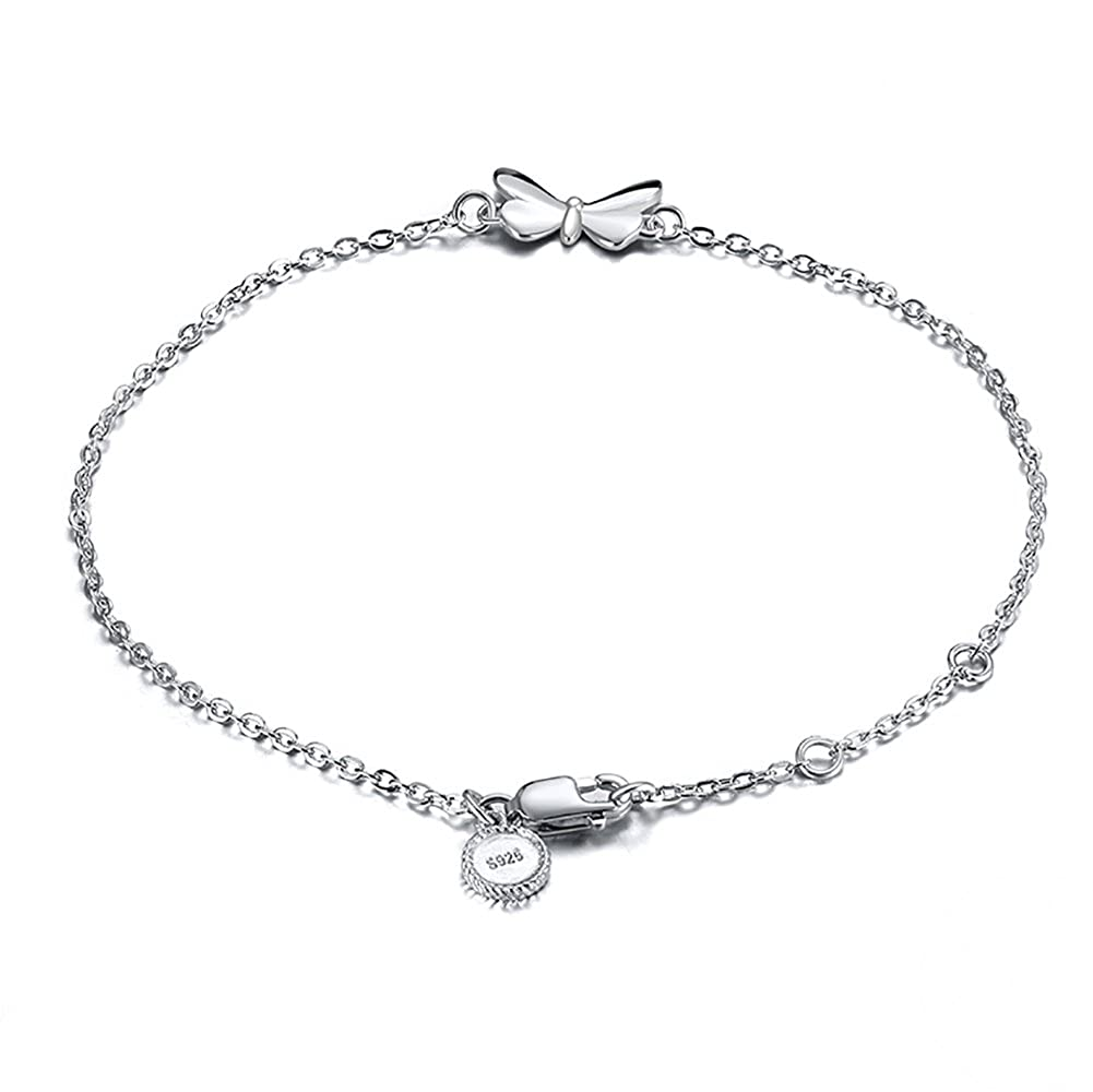 Ginger Lyne Collection Sterling Silver Rolo Chain Butterfly Bracelet