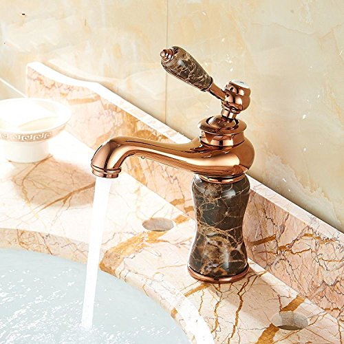 Gyps Faucet Basin Mixer Tap Waterfall Faucet Antique Bathroom Mixer Bar Mixer Shower Set Tap antique bathroom faucet Basin taps full copper jade faucets antique pink gold plated hot and cold marble ba