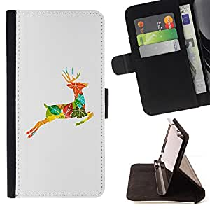 Jordan Colourful Shop - drawing autumn collage nature For Apple Iphone 5 / 5S - Leather Case Absorci???¡¯???€????€?????????