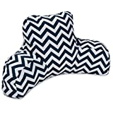 Majestic Home Goods Chevron Reading Pillow, Navy