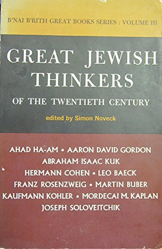 Great Jewish Thinkers Of The 20 Th Cent