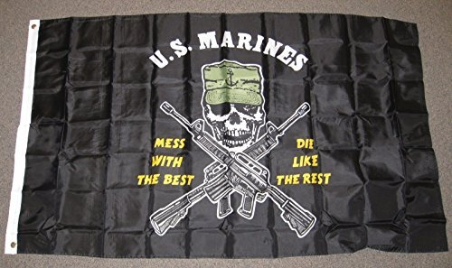Mess With The Best Die Like The Rest Flag 3x5 Feet Usmc Us M