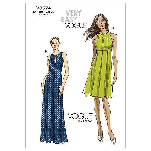 (Vogue Patterns V8574 Misses' Dress, Size AA (6-8-10-12))