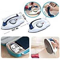 Holyfad Travel Iron Portable Powerful Variable Temperature Mini Electrical Steam Iron with Foldable Handle, Compact & Lightweight (White)