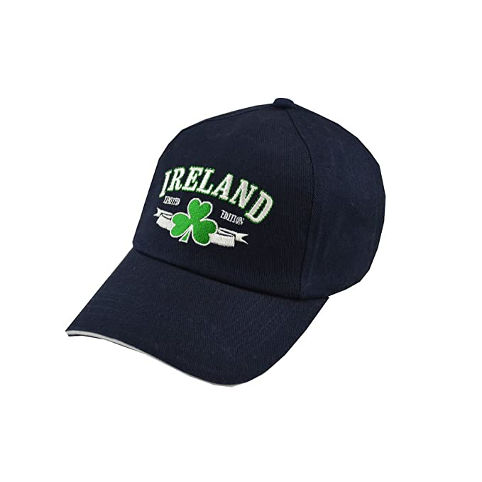 c905b242031 Carrolls Irish Gifts Baseball Cap with Embroidered Ireland Limited Edition  Print and Shamrock