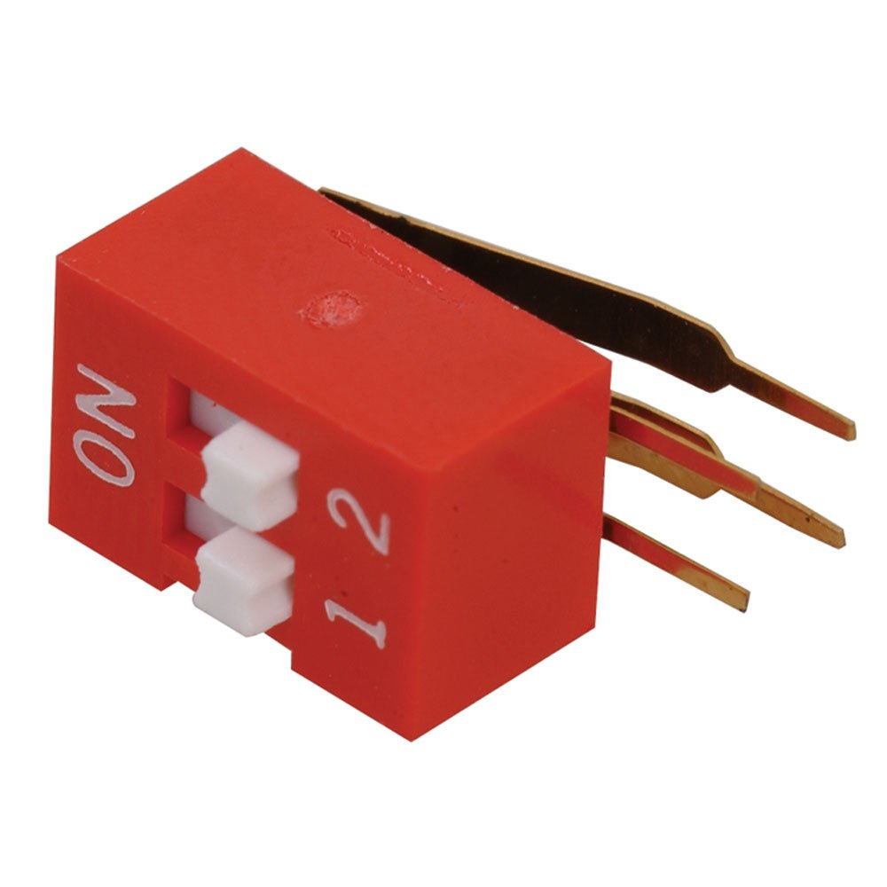 Single Pole Arndt SDAX-2RX-X DIP Switch 0.025 Amp Single Throw 24 Volt 2.54 mm Size Pack of 20