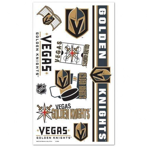 Vegas Golden Knights Tattoos 10 per sheet ()