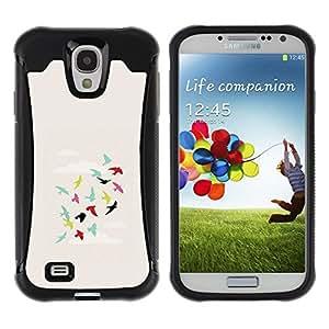 Suave Caso Carcasa de Caucho Funda para Samsung Galaxy S4 I9500 Sky Flying Minimalist Art Metaphor / JUSTGO PHONE PROTECTOR