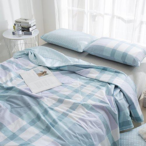 J-pinno Checks Strips Printed Quilt Comforter Twin Blanket f