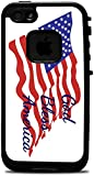 God Bless America Quote The American Flag Lifeproof Fre iPhone 4 Vinyl Decal Sticker Skin