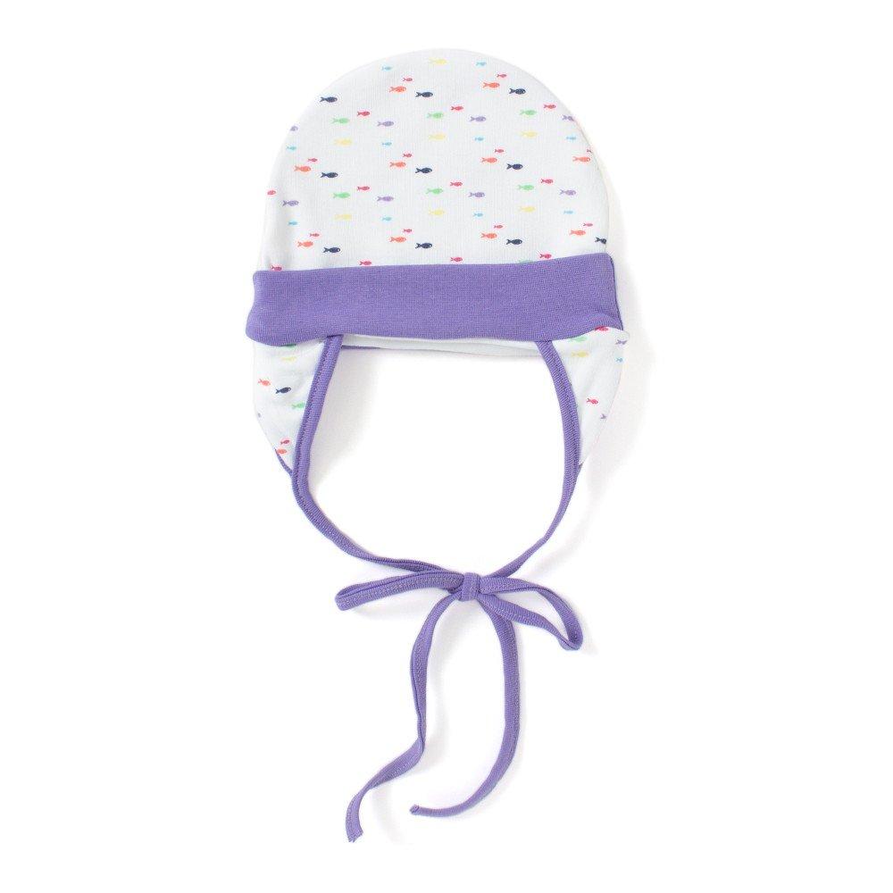 2b5987e0f Ben Benny Cap Cover Ears Multi Fish Print With Lavender Purple Rib ...
