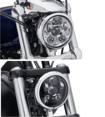 Wisamic-5-34-575-LED-Projection-Daymaker-Headlight-for-Harley-Davidson-Motorcycles-9-pcs-Bulb