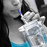 Personal Water Filter Straw Portable Purifier for Filtering Purification when at Home Camping Hiking Survival Backpacking Emergency Travel w/Patented Technology fits in Bottles |Storage Tube Included