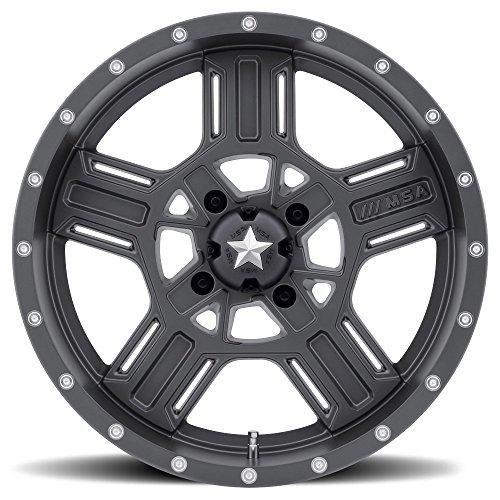 (MSA OFFROAD WHEELS M32 AXE Matte Gray Wheel Chromium (hexavalent compounds) (15 x 7. inches /4 x 112 mm, 0 mm Offset))