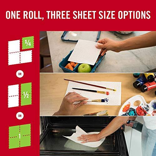 Brawny Tear-A-Square Paper Towels, 12 Rolls, 12 = 24 Regular Rolls, 3 Sheet Size Options, Quarter Size Sheets by Brawny (Image #3)