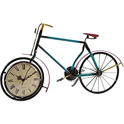 17 Bicycle Clock - Metal Retro Style by Trademark Innovations