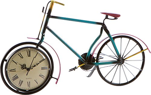 Trademark Innovations 17″ Bicycle Clock – Metal Retro Style by