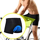 CapsA Cycling Shorts 3D Padded Bike Bicycle Cycling Underwear Shorts Breathable Quick Dry Pants Lightweight Shorts for Men Women Comfortable Underwear Padded (Blue, M)
