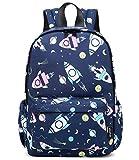 Abshoo Little Kids Toddler Backpacks for Boys and Girls Preschool Backpack With Chest Strap (Rocket Navy)