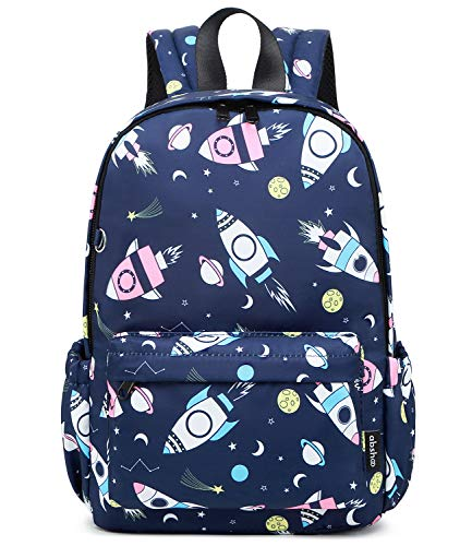 Abshoo Little Kids Toddler Backpacks for Boys and Girls Preschool Backpack With Chest Strap (Rocket Navy)