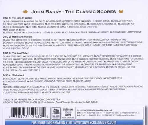 Classic Scores: Zulu / The Lion in Winter / Robin and Marian / The Last Valley / Walkabout