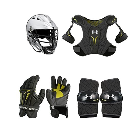 - Boys Youth Lacrosse Starter Set 4-Piece (Cascade CS Helmet) Extra Small