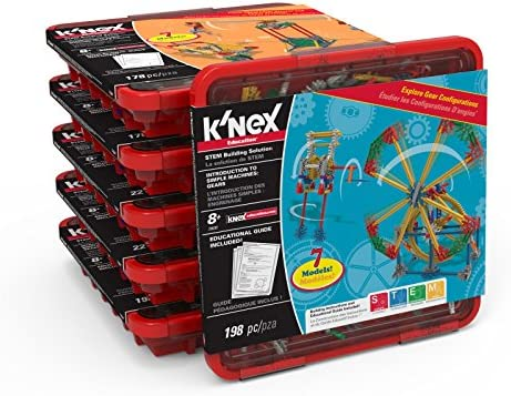 K'NEX Education – Simple Machines Classroom Pack – for 12-18 Students – Elementary Education Set, Multi