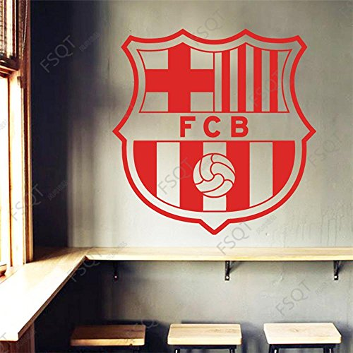 Luziang Barcelona fútbol Equipo Insignia Logo Tallado Cartel Pared Pegatinas Living Comedor Dormitorio Restaurante Bar...