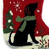 """Glitzhome 19"""" Handmade Hooked Dog Christmas Stocking"""