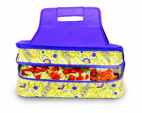 ermal Insulated Hot and Cold Pot Luck Food Carrier with Bonus Containers by Picnic Plus Floral Yellow ()