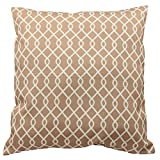 Traditions By Waverly 14311018X018NAT Ellis 18-Inch by 18-Inch Decorative Pillow Set (2 Pack), Natural