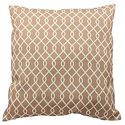 Traditions By Waverly 14311018X018NAT Ellis 18-Inch by 18-Inch Decorative Pillow Set (2 Pack), Natural - 2-Pack pillow set Coordinating Ellis window panels and valance sold separately 100% polyester - living-room-soft-furnishings, living-room, decorative-pillows - 51jQN7hfNLL. SS400  -